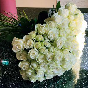 101 біла троянда у Тернополі фото