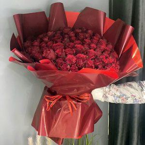 Букет 101 червона троянда в Тернополі фото