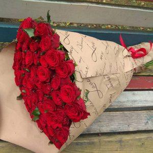 букет 51 червона троянда на день народження