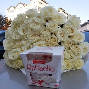 букет 51 біла троянда в Тернополі