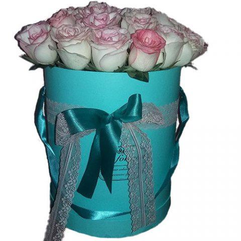 """21 троянда """"Джумілія"""" в коробочці"""