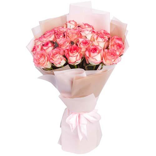 """букет 25 рожевих троянд """"Джумілія"""""""
