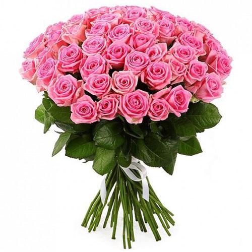 """букет 51 троянда """"Аква"""""""