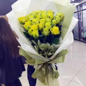25 жовтих троянд у Тернополі фото
