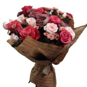 """Букет """"З ювілеєм"""" мікс квітів"""