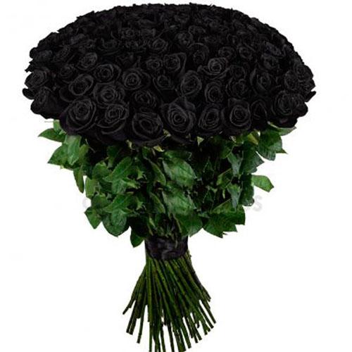 101 чорна троянда фото букета