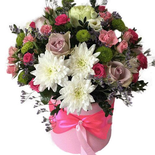 Коробка «Ніжність» мікс квітів фото