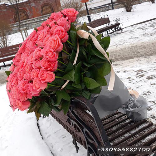 букет рожевих троянд фото