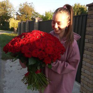 Фото товару 101 червона троянда