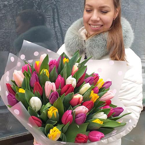 Букет тюльпанів в Тернополі